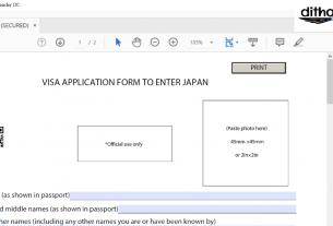 Đơn xin visa Nhật