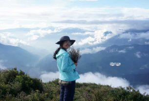 Huyen Chen trên đỉnh Tà Chì Nhù